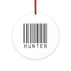Hunter Barcode Ornament (Round)