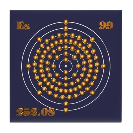 Einsteinium 99 Tile Coaster