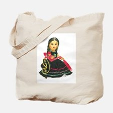 Mexican Girl Dancer Doll Mari Tote Bag