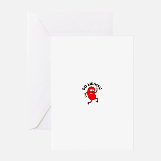 Go Kidneys Greeting Cards
