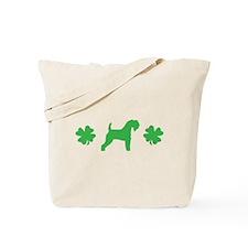 Kerry Blue & Shamrocks Tote Bag