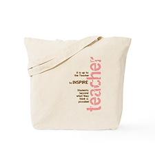 Teacher's Inspire Tote Bag