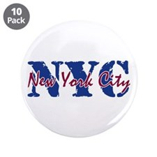 "New York City 3.5"" Button (10 pack)"
