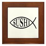 Sushi Fish Framed Tile