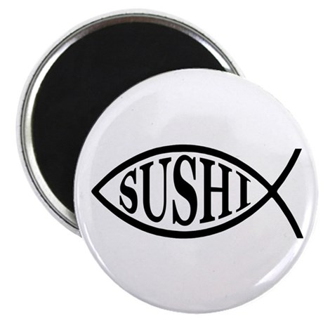 "Sushi Fish 2.25"" Magnet (10 pack)"