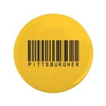 "Pittsburgher Barcode 3.5"" Button (100 pack)"