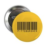 "Pittsburgher Barcode 2.25"" Button (100 pack)"