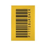 Pittsburgher Barcode Rectangle Magnet