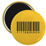 """Pittsburgher Barcode 2.25"""" Magnet (10 pack)"""