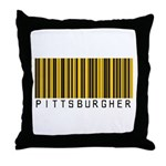 Pittsburgher Barcode Throw Pillow