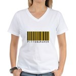 Pittsburgher Barcode Women's V-Neck T-Shirt