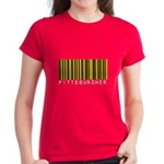 Pittsburgher Barcode Women's Dark T-Shirt