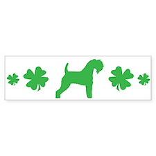 Kerry Blue & Shamrocks #3 Bumper Bumper Sticker