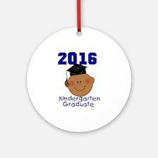 2016 Boy Kindergarten Grad Round Ornament