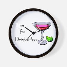 Drinkie-poo Wall Clock