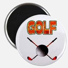 Golf Clubs Magnet