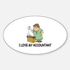 I Love My Accountant Oval Decal