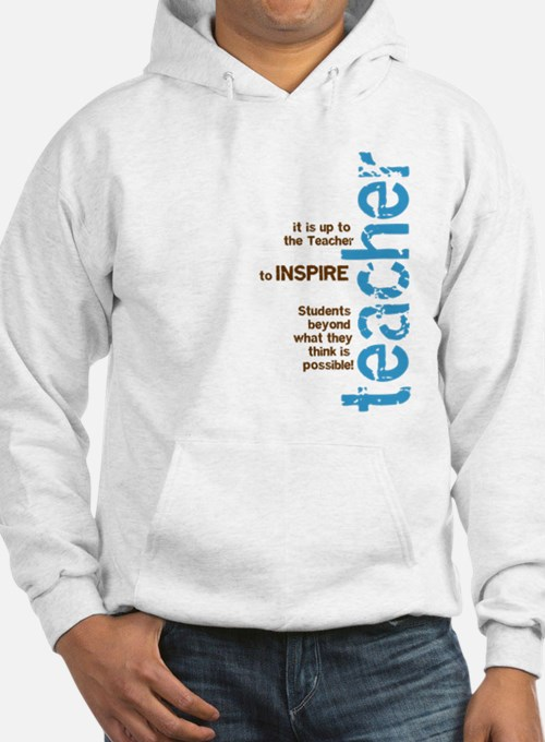 Teacher's Inspire (Blue/Brown Hoodie Sweatshirt