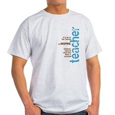 Teacher's Inspire (Blue/Brown T-Shirt