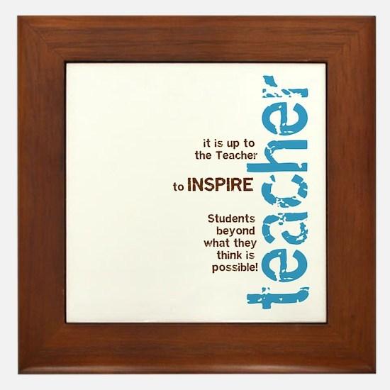 Teacher's Inspire (Blue/Brown Framed Tile