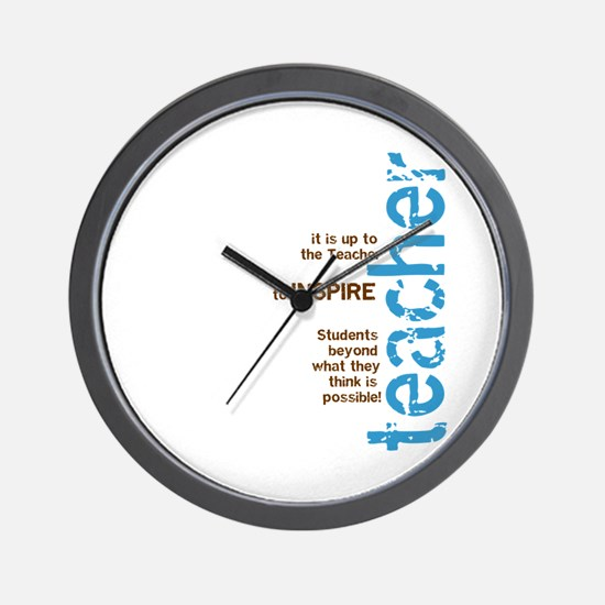 Teacher's Inspire (Blue/Brown Wall Clock