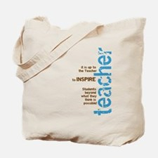 Teacher's Inspire (Blue/Brown Tote Bag