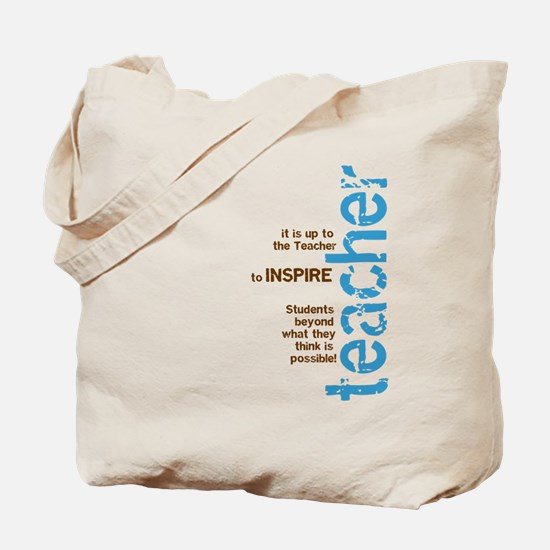 Teacher's Inspire (Blue/Brown Tote Bag