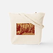 Psychedelic morel mushroom art Tote Bag