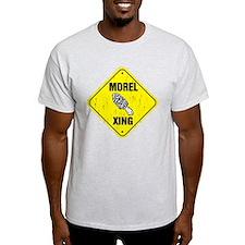 Psychedelic morel mushroom art T-Shirt