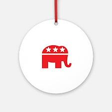 Republican Elephant Logo-Single Color Ornament (Ro