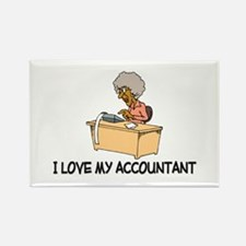 I Love My Accountant Rectangle Magnet