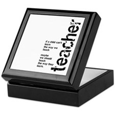 If A Child Can't Learn (Black Keepsake Box