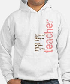 If a Child can't Learn (Pink/ Hoodie Sweatshirt