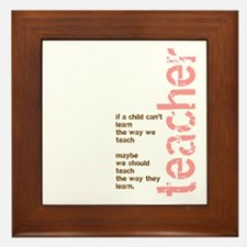 If a Child can't Learn (Pink/ Framed Tile