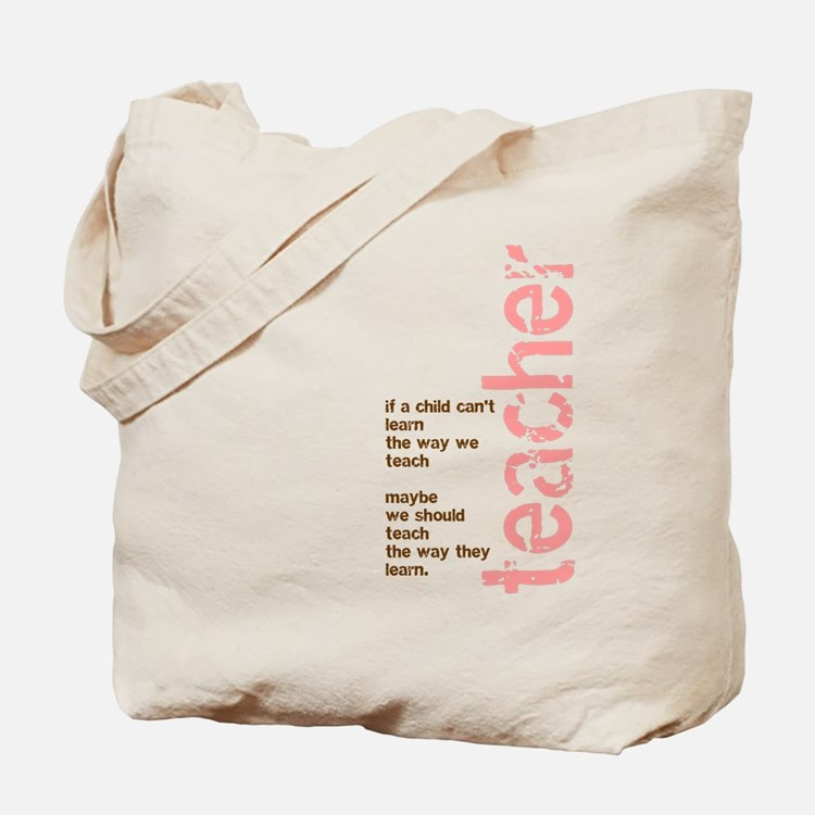 If a Child can't Learn (Pink/ Tote Bag