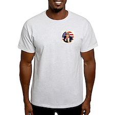 Uncle Sam (Front & Back) Ash Grey T-Shirt