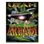 Utah The New Area 51 Small Poster 16x20