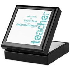 Teacher Encouragement (blue) Keepsake Box