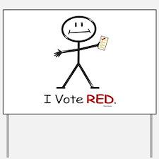 Stick Figure Vote Red Yard Sign