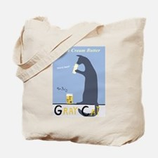 Gray Cat Butter Tote Bag