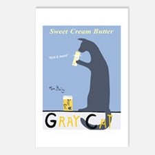 Gray Cat Butter Postcards (Package of 8)