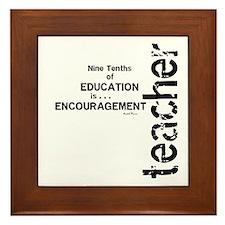 Teacher Encouragment (Black) Framed Tile