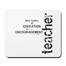 Teacher Encouragment (Black) Mousepad