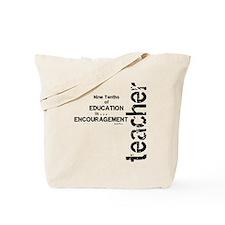 Teacher Encouragment (Black) Tote Bag