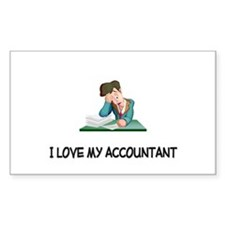 I Love My Accountant Rectangle Decal