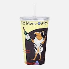 Red Merle Merlot Acrylic Double-wall Tumbler