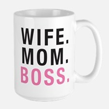 Wife Mom Boss Large Mug