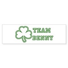 Team Benny Bumper Car Sticker