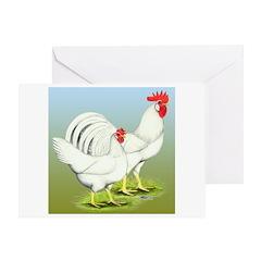 Leghorn Chickens White Greeting Card