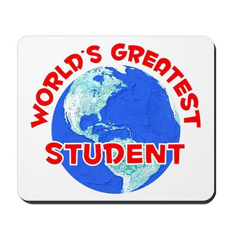 World's Greatest Student (F) Mousepad